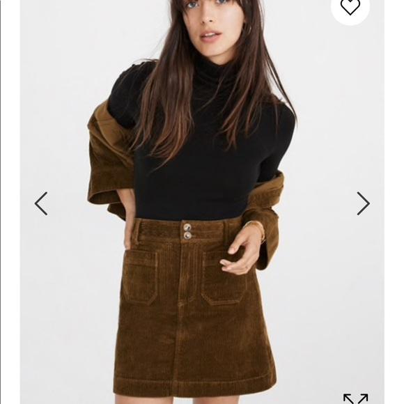 52a6f07437 Madewell Dresses & Skirts - Madewell Corduroy A-Line Mini Skirt